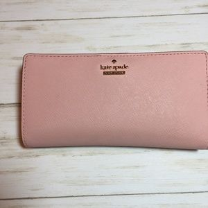 Kate Spade Pink Gold Accent Wallet